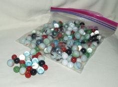 Marbles Glass Mixed Grab Bag of Various Styles by WMCraftSupplies