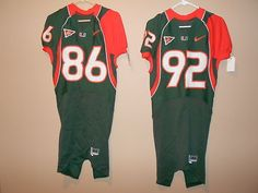Miami of florida hurricanes game used  Football jersey from  219.0 0930dbe2c