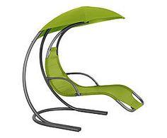 Sdraio a dondolo in acciaio e textilene Gioia verde - 179x170x115 cm