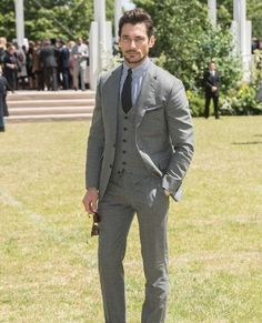 David Gandy at the Burberry show during London Collections Men on June 15, 2015.