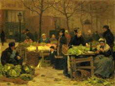 victor-gabriel-gilbert-a-parisian-market.jpg (520×391)
