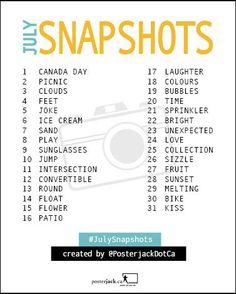 Posterjack July Snapshots: 31 Day Photo Challenge List