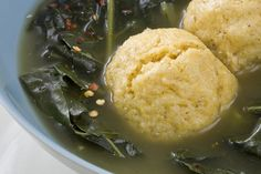 This recipe makes light, buttery dumplings rich in cornmeal flavor and lingeringly sweet; the collards swirl alongside in a smoky broth. Corn Recipes, Side Dish Recipes, Indian Food Recipes, Cornmeal Recipes, Turnip Recipes, Veggie Recipes, Cornmeal Dumplings, Southern Recipes, Southern Food