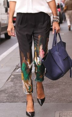 Jackson Pollock pants by Anlij.  splash pants- what you get when you take the i out.