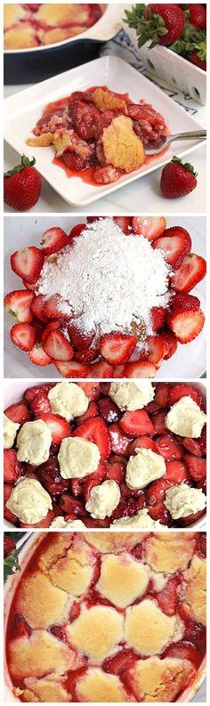 A super-quick new cobbler recipe sugar cookie topping!