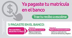 @Escolmeeduco ¡Para que tu matrícula sea efectiva trae tu recibo de pago a la oficina de cartera de ESCOLME!