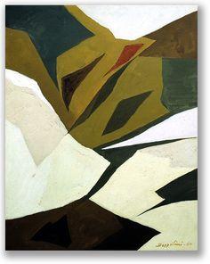 Silvano Bozzolini - Senza Titolo - 1960 - Olio su carta intelata, 48 x 38 cm.