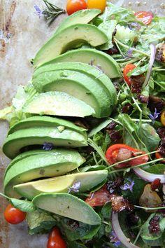 Rosemary Chicken, Avocado and Bacon Salad by Heather Christo