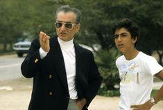 Shah and Crown Prince Reza, Kish, 1975