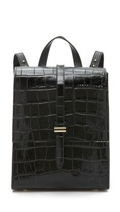 meli melo Croc Embossed Azzurra Backpack