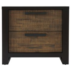A handsome addition to your master suite or guest room, this stylish nightstand showcases 2 drawers and a rich 2-tone mahogany finish.