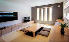 Washitsu, Japanese Interior, Townhouse, House Design, Flooring, Cook, Living Room, Houses, Terraced House