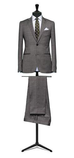 Black-white suit Faux uni S110 http://www.tailormadelondon.com/shop/tailored-suit-fabric-4310-plain-grey/