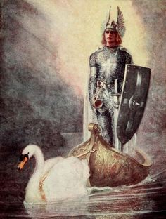 Lohengren is brought by the swan; A Day With Richard Wagner ebook in the public domain. Composer study