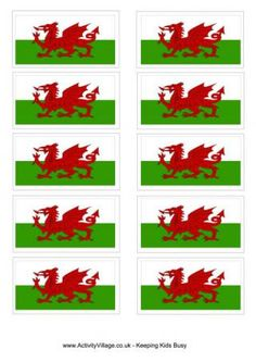Welsh Flag Printable free printables:flags, colouring pages, worksheets and more.
