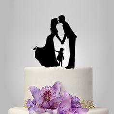 bride and groom wedding cake TOPPER family wedding door walldecal76