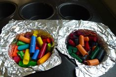 Re-purpose old crayons into multi-colored crayon pucks! Craft ideas by Box Tops for Education