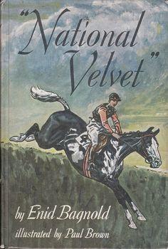 Paul Brown cover illustration for 'National Velvet' by Enid Bagnold I Love Books, Great Books, New Books, Books To Read, Horse Story, Horse Books, Classic Books, Classic Films, Timeless Classic