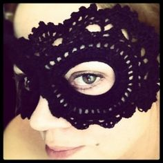 Crochet Lace Masquerade Mask