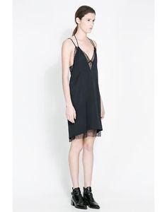 Zara Studio Mesh Dress #refinery29
