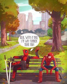 I leave it to you Who is Funnier? #marvelcomics #Comics #marvel #comicbooks #avengers #captainamericacivilwar #xmen #xmenapocalypse #captainamerica #ironman #thor #hulk #hawkeye #blackwidow #spiderman #vision #scarletwitch #civilwar #spiderman #infinitygauntlet #blackpanther #guardiansofthegalaxy #deadpool #wolverine #daredevil #drstrange #infinitywar #thanos #magneto #cyclops http://ift.tt/2b3grd6