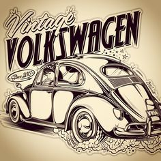 bleu marine Homme Volkswagen VW Bus Surf Beach Cruisin Imprimé Graphique T Shirt