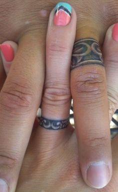 Wedding ring tattoo design