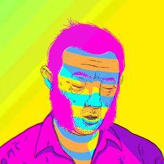 "Brazilian artist Henrique Lima (aka ""gringo"") has created Mestre Fungo, a series of animated GIFs"