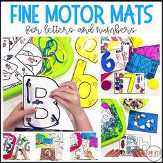 Fine Motor Letter and Number Mats for Preschool, PreK, and Kindergarten