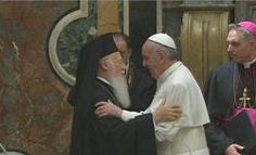 """Pope Francis to Ecumenical Patriarch Bartholomew: """"My Brother Andrew"""" .... He identifies him as """"My Brother Andrew"""", since the Patriarch traces his line of apostolic succession back to St. Andrew, St. Peter's brother."""