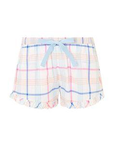 e11351475bb John Lewis Lilian Check Short Shorts Pyjama Bottoms PJ Nightwear Woven UK  14 New  fashion