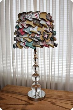 Wowee! MME lampshade made with layers of curled paper circles