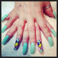 Spring nails art design