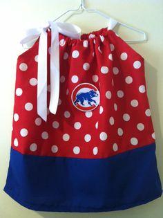 Chicago Cubs pillowcase dress by CarolinasHopeChest on Etsy, $18.00