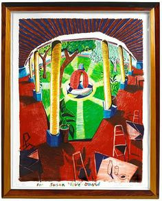 David Hockney, View of Hotel Well III Fantastic holiday gift for your home decor