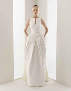 The way the edges on this dress are razor sharp. | 50 Gorgeous Wedding Dress Details That Are Utterly To Die For