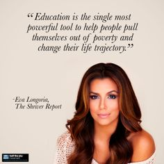 Read The Shriver Report to learn how Eva Longoria is helping Latinas build better futures for themselves through the Eva Longoria Foundation.   (Photo by John Russo.)