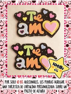 Diy Cake Topper, Cake Toppers, Foam Crafts, Diy And Crafts, Beautiful Notes, Pink Candy, Scrapbook Paper, Gift Tags, Baby Gifts