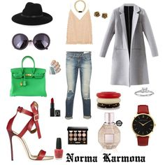 Norma Karmona by normacarmona on Polyvore featuring moda, Balenciaga, rag & bone, Dsquared2, Hermès, Tiffany & Co., Blue Nile, MARC BY MARC JACOBS, Larsson & Jennings and Kenneth Jay Lane
