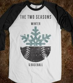 Winter and Baseball - Pigskins & Diamonds - Skreened T-shirts, Organic Shirts, Hoodies, Kids Tees, Baby One-Pieces and Tote Bags
