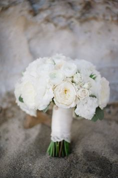 White Bridal bouquet from the side