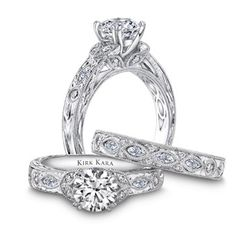 noam cirelli detail band hand set carver collections detailed diamond carved wedding jewelers prong engagement rings