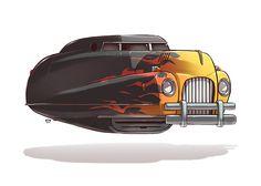 Ze Future: Car Illustrations by Ido Yehimovitz | Inspiration Grid | Design Inspiration