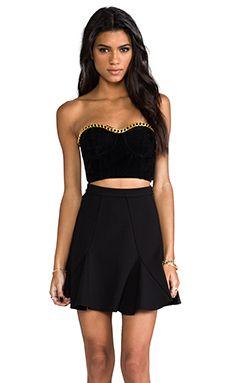 Minkpink women black my way or the highway bustier dresses