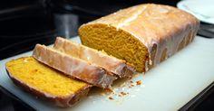 Glazed Pumpkin Loaf ~ 1 tin 15oz puree mmm <3 d dense look of bread