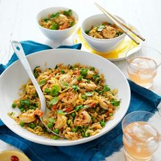 Garlic Prawns and Sweet Chilli Fried Rice