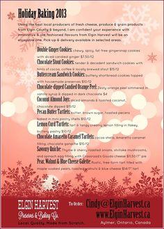 2013 Holiday Baking Elgin Harvest