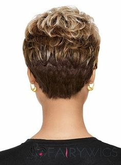 Delicate Short Wavy Blonde African American Lace Wigs for Women 6 Inch