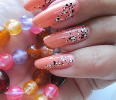 My nails with Coral and Jolly Jewels. www.funkyandfifty.blogspot.com