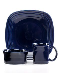Fiestaware Square 3-Place Setting, Cobalt Blue